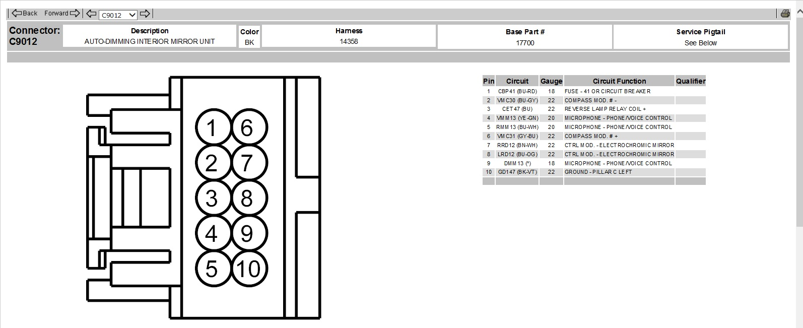 wiring diagram for 2009 ford f 150 rear view mirror