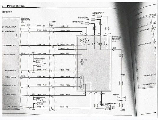 Ford Power Mirror Wiring Diagram Power Folding Mirrors Option Page 3 Ford F150 Forum