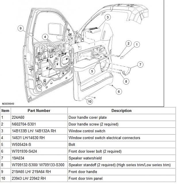 D T Driver Side Interior Door Handle Door Trim