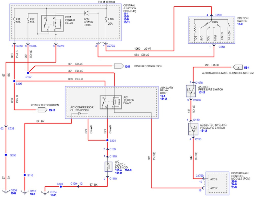 medium resolution of ford a c wiring diagram wiring diagram library 2007 ford f150 ac diagram 2007 ford f150 ac diagram