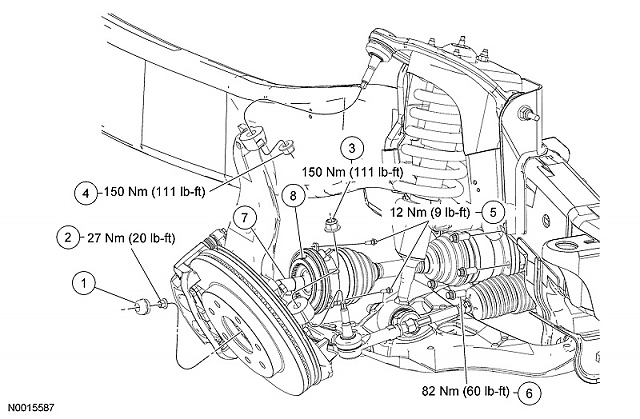 2004 Ford F150 Front Axle Diagram