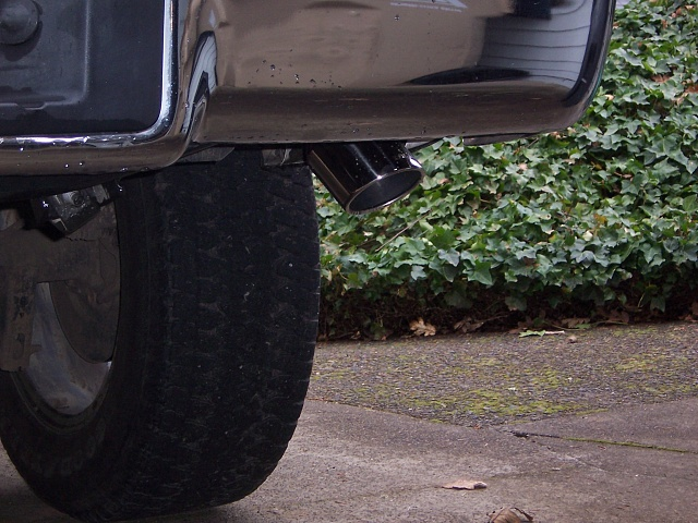 dual exhaust tip placement and style