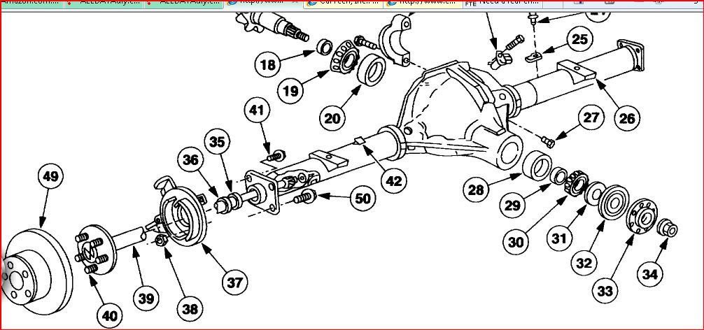 Rear Axle Diagram 1995 Ford F 150 Front Axle Diagram Front