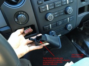 Location of brake controller plug  pic (2013 F150)  Ford