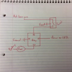 Light Bar Wiring Diagram High Beam Explanation Of Iron Carbon Led Added To Hi Lights Ford F150 Forum