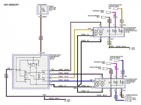 2008 Ford Mirror Wiring Diagram Wiring Diagram – Lincoln Mirror Wiring Diagram