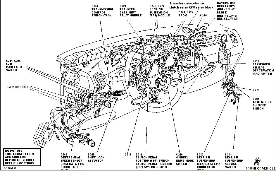 Ford F 350 7 Way Trailer Plug Wiring Diagram 1997 Ford Expedition 4x4 Shift Motor 1997 Ford