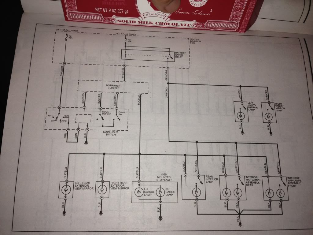 hight resolution of domelight wiring diagram f150online forums ford dome light