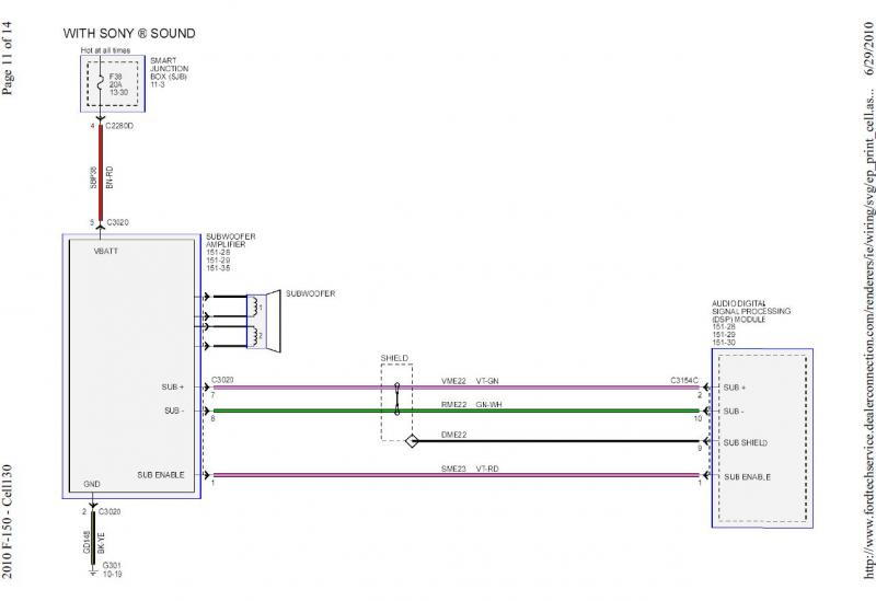 Amp Ford Factory Amplifier Wiring Diagram - Circuit ...
