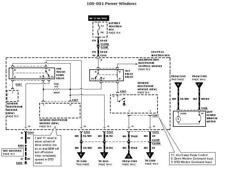Ford 2002 Window Wiring Diagram