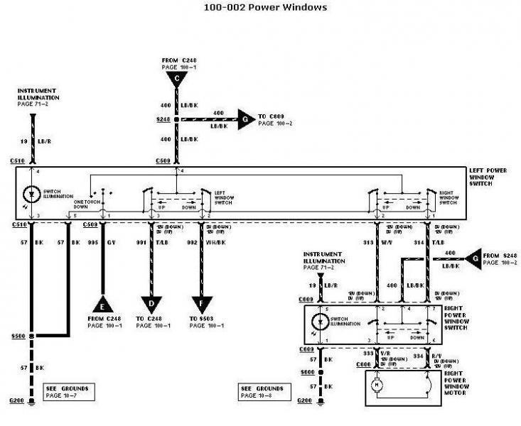 2004 ford f150 power window wiring diagram