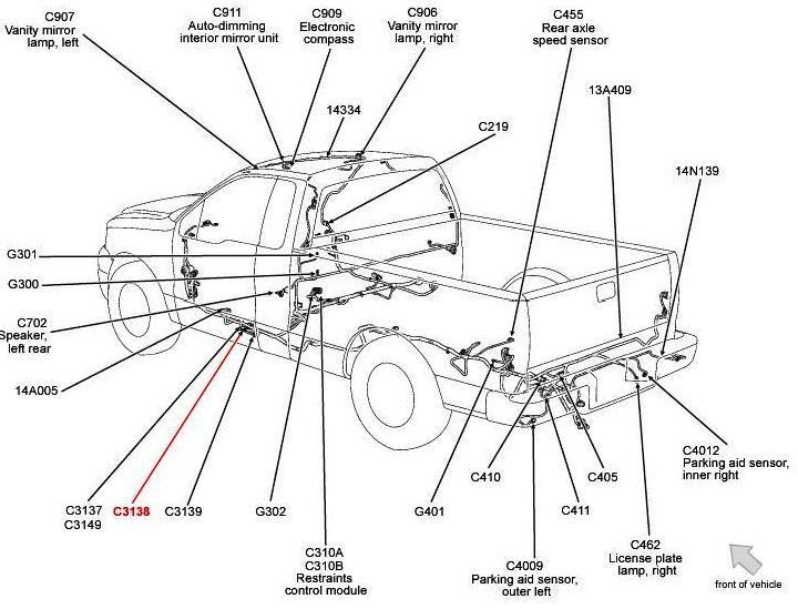 reverse lights ford ranger diagram