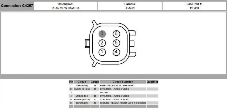 5 pin trailer connector diagram mercedes wiring symbols adding backup camera to '13 fx4 with existing tailgate - ford f150 forums ...