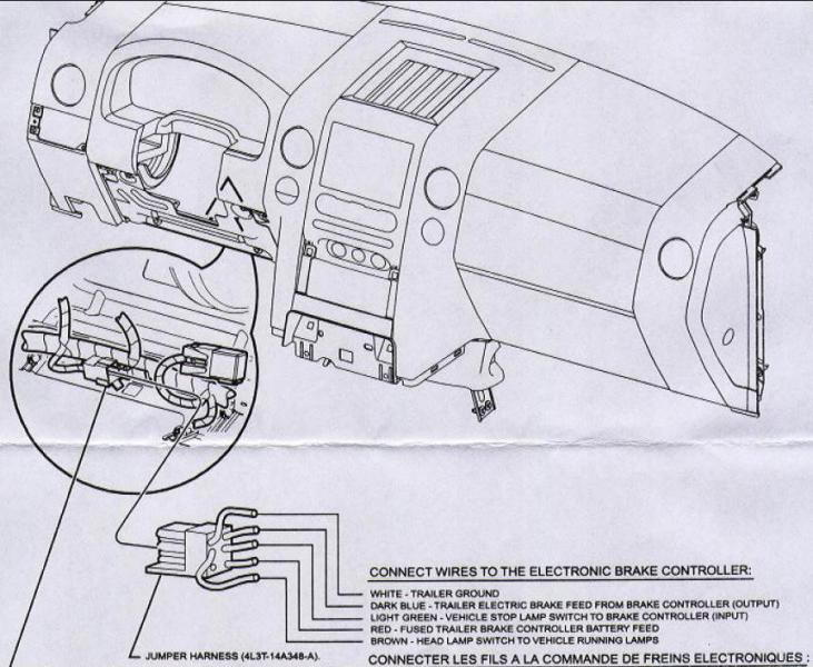 wiring diagram as well ford trailer brake controller wiring diagram