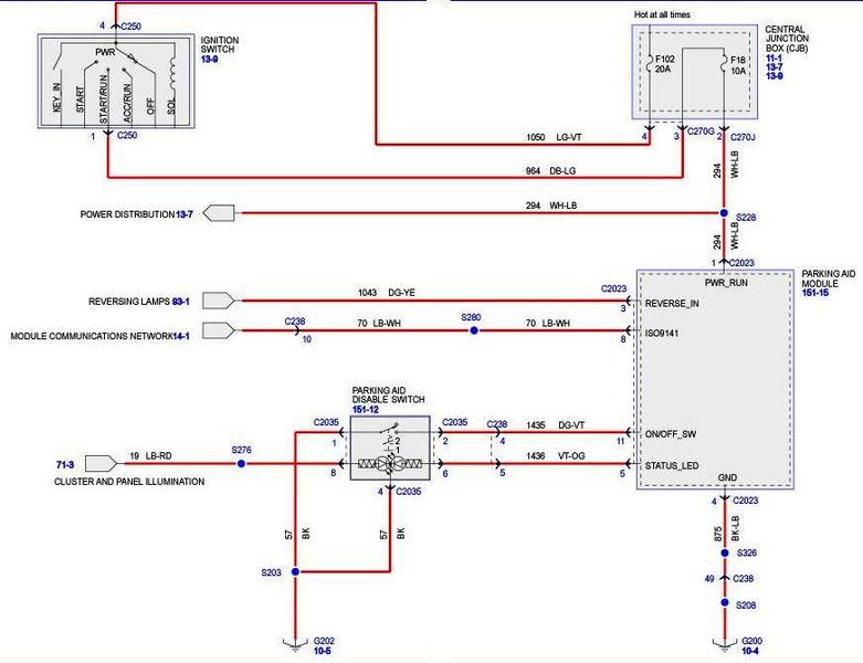 2006 f150 starter wiring diagram lighting contactor photocell 2005 reverse sensing schematic - f150online forums