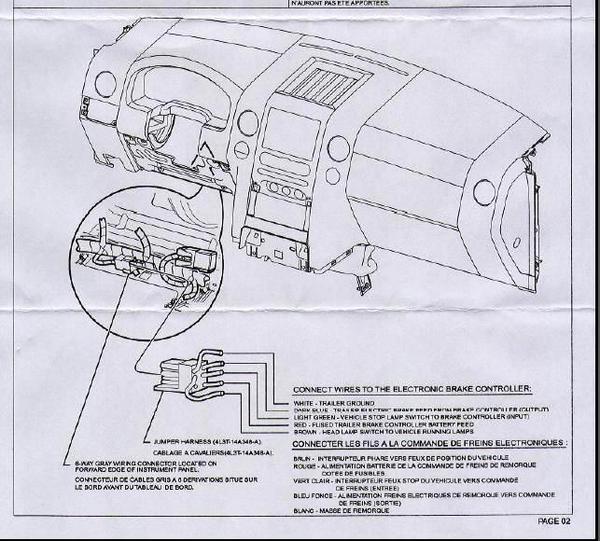 1997 ford f150 trailer brake wiring