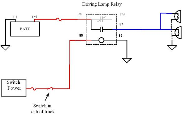 wire diagram for relay fog light