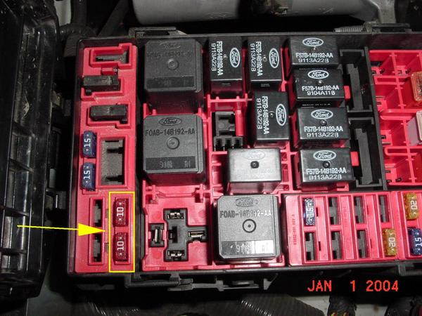 2005 Ford F 150 Fuse Box Diagram