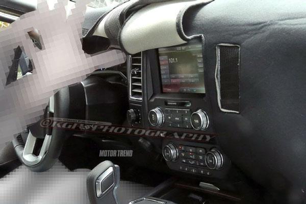 2015 Ford F-150 Interior Spy Shot Photo