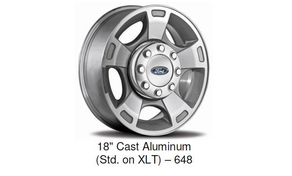 2015 Ford F-Series Super Duty Standard XLT Wheel