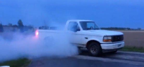 tire smokin beat up 1995 f 150 serves a purpose f150online com
