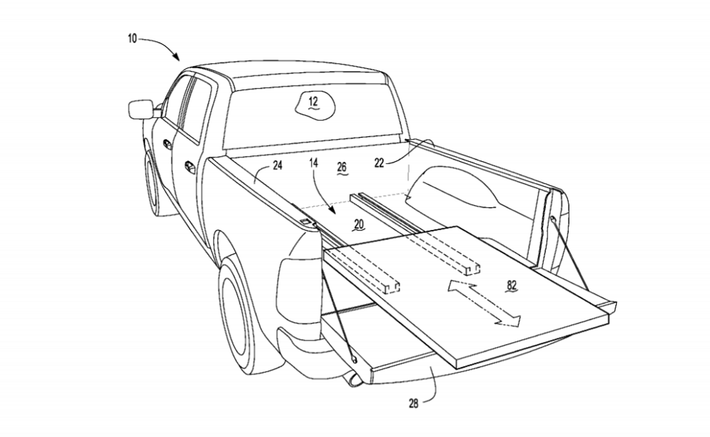 Ford Patent Reveals Future F-150 Sliding Bed Floor