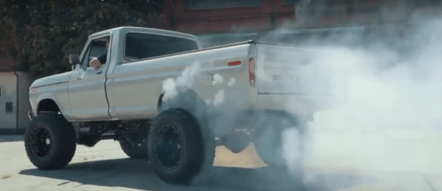 1978 Ford F-250 Silver burnout