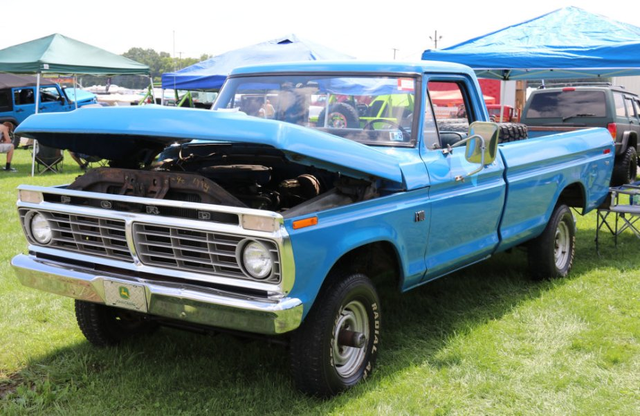 Classic Blue Ford Truck