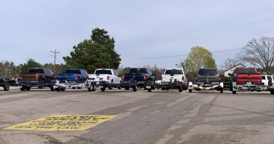 Ford F-150 Pickups at the Boat Ramp