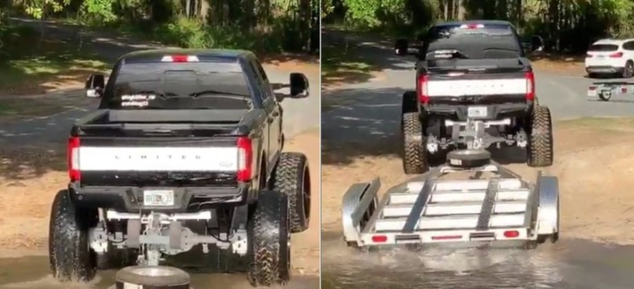 Ford F-250 in Water
