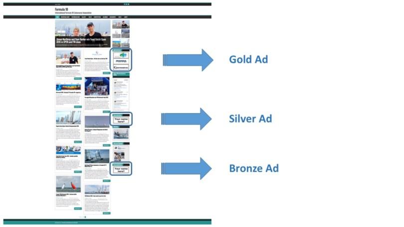 Advertising gold-silver-bronze