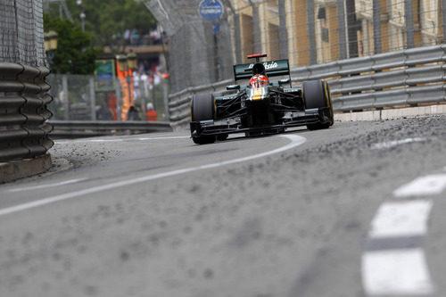 Kovalainen rodando por el circuito de Montecarlo (2012)