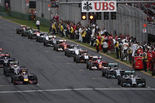 Parrilla de salida del Gran Premio de Australia 2014