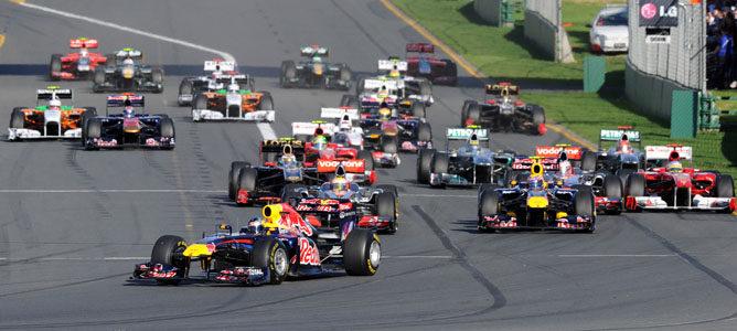 Salida del Gran Premio de Australia de 2011