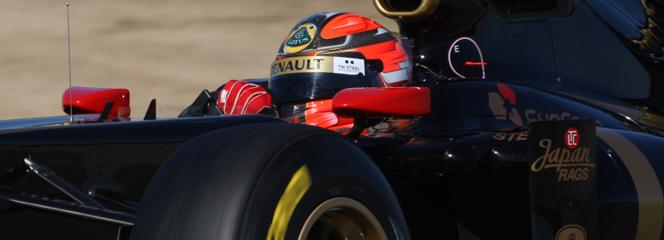 Kubica rodando con el Lotus-Renault R31