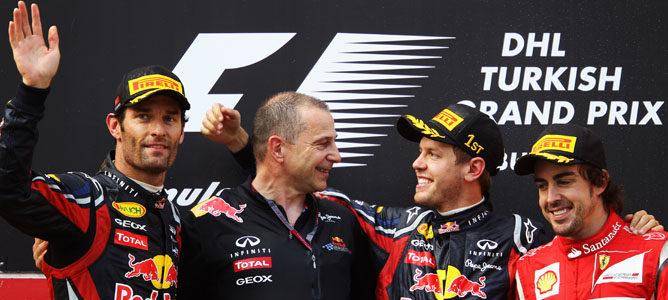 Vettel rodando durante la carrera de Turquía