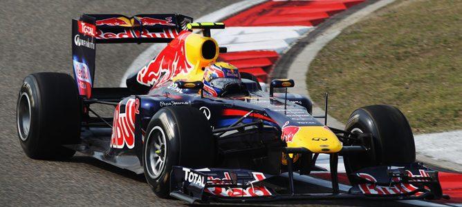Webber rodando durante los Libres 1 de Montmeló