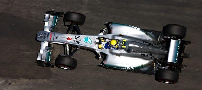 Rosberg rodando en los Libres 1 de Canadá