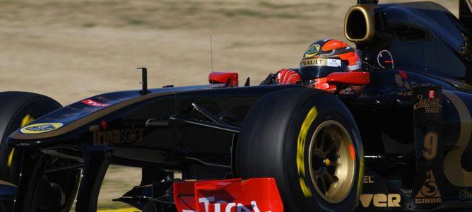 Kubica en un test de pretemporada de 2011