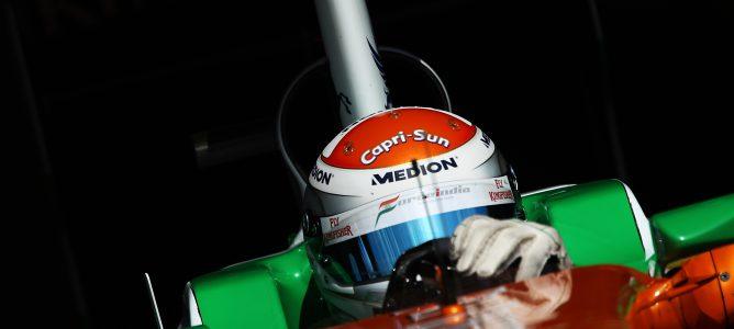 Sutil rodando durante temporada 2011 de F1