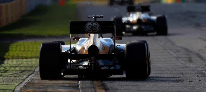Kovalainen rodando en la carrera de Australia