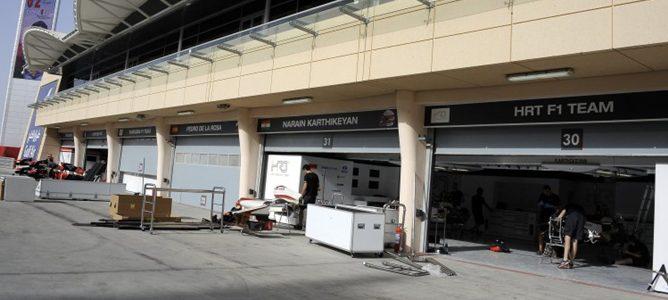 Garajes y box de HRT en Bahréin