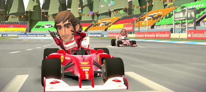Fernando Alonso en 'F1 Race Stars'