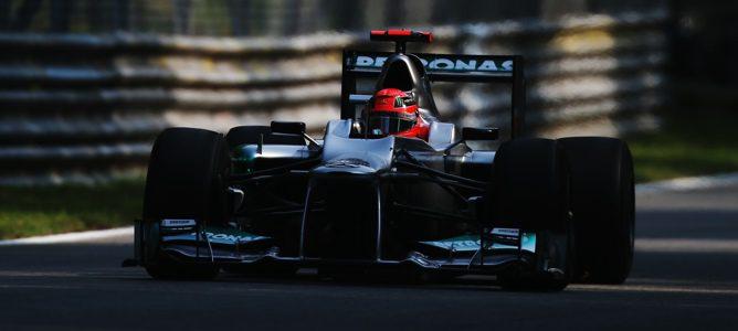 Schumacher rodando en pista