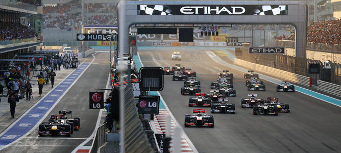 Salida del Gran Premio de Abu Dhabi