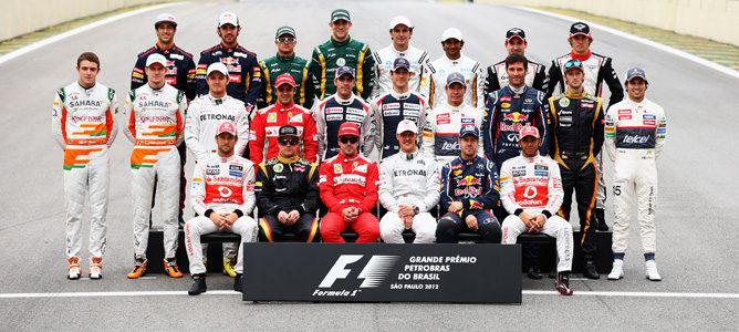 Parrilla de F1 de la temporada 2012 en el Gran Premio de Brasil a final de la temporada