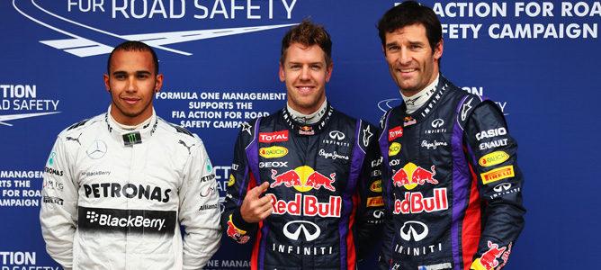 Vettel, Webber y Hamilton, los tres primeros clasificados