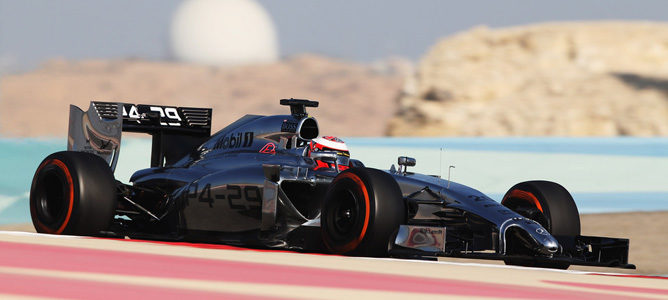Magnussen rodando en pista