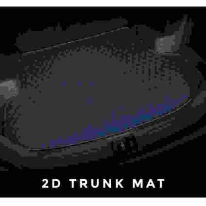 Diamond Car Mats Blue 2D Trunk Set