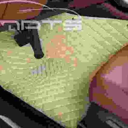 Beige Stitching Luxury Diamond Car Front Floor Mats
